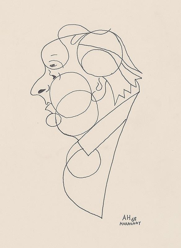Adolf Hoffmeister – Karikatúrna kresba A.Bednára VIII.