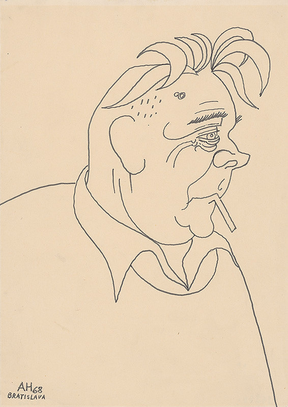 Adolf Hoffmeister – Karikatúrna kresba L.Novomeského IV.