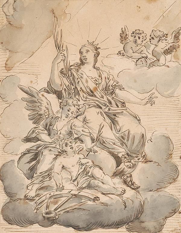 Paul Troger – Madona s anjelmi na oblakoch