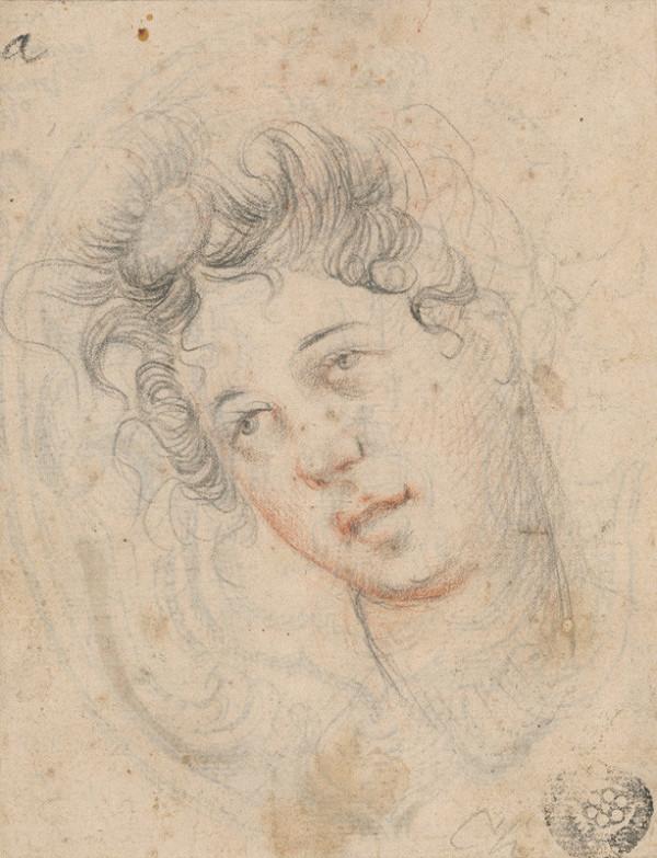 Taliansky maliar zo 17. storočia - Hlava ženy