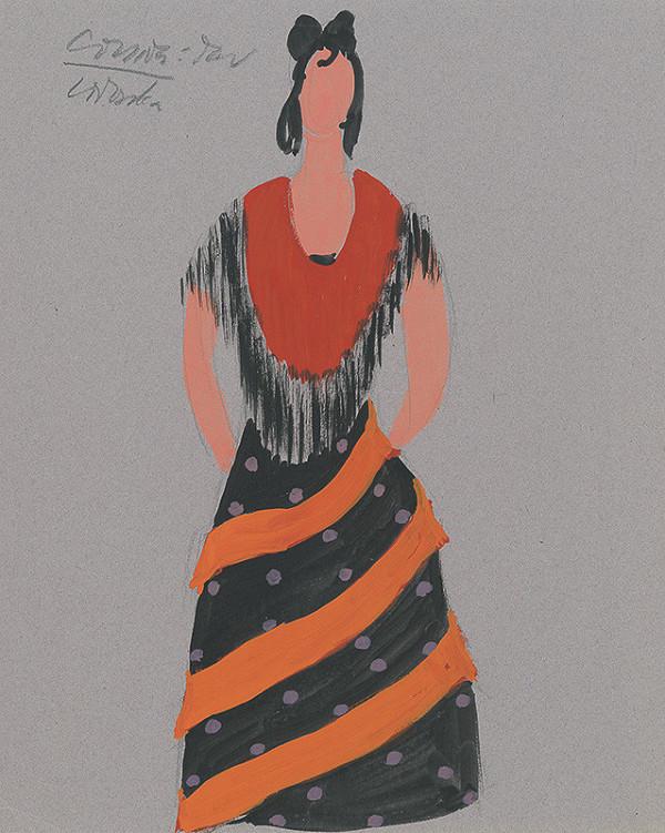 4b4bc22d0cc7 Eugen Nevan - Návrh na ženský kostým III.