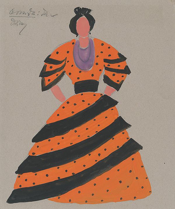 182f142b9e27 Eugen Nevan - Návrh na ženský kostým V.