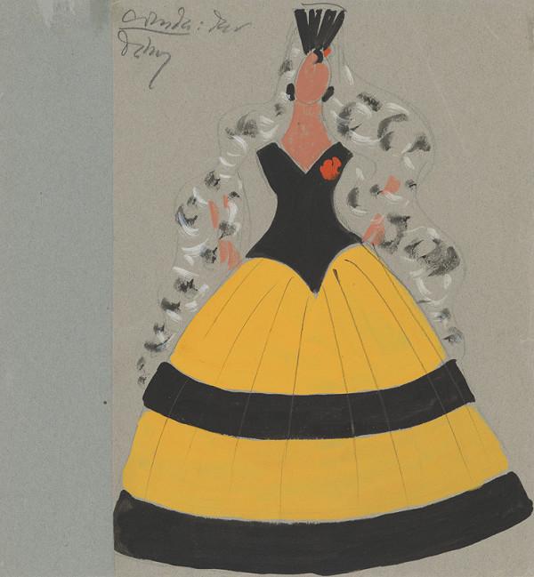 Eugen Nevan – Návrh na ženský kostým VIII.