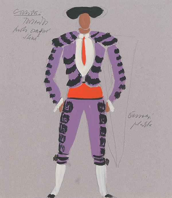 Eugen Nevan - Návrh na kostým toreádora I.