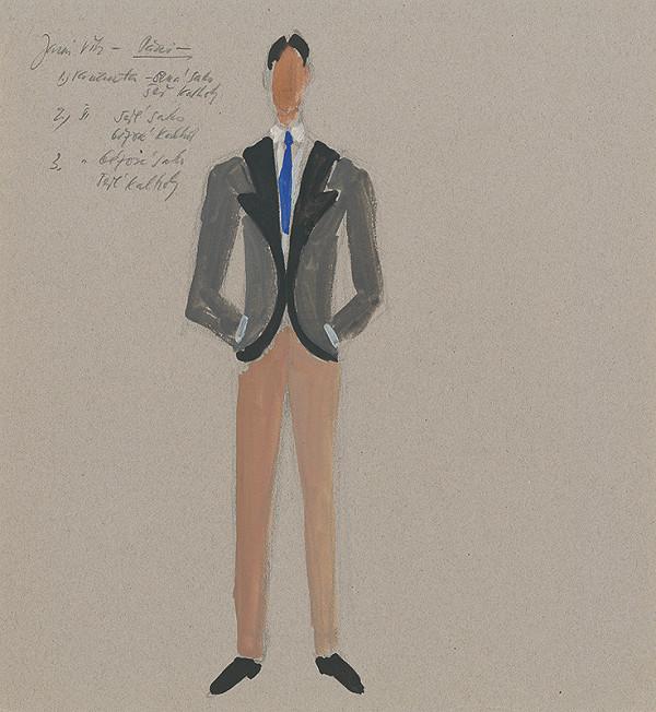 Eugen Nevan - Návrh na mužský kostým I.