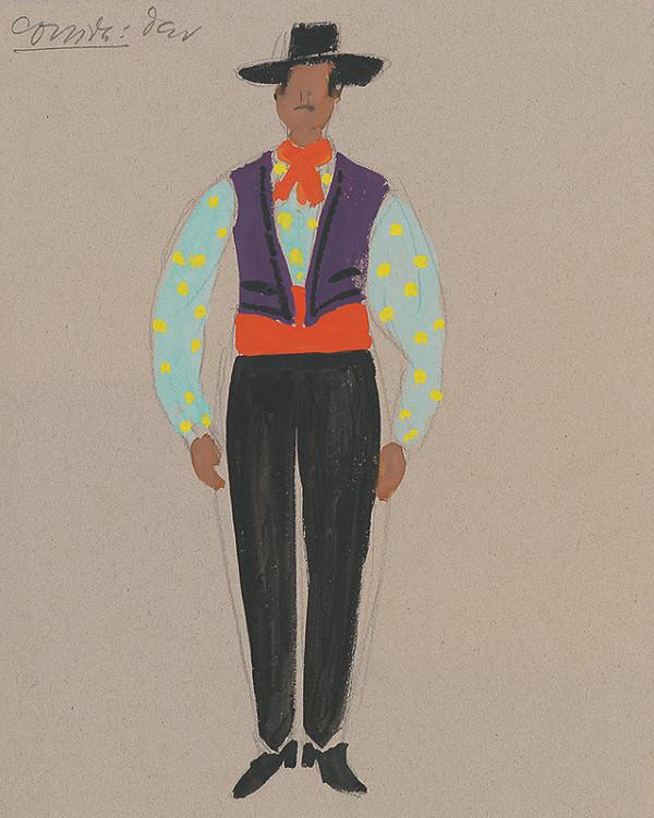 Eugen Nevan - Návrh na mužský kostým II.