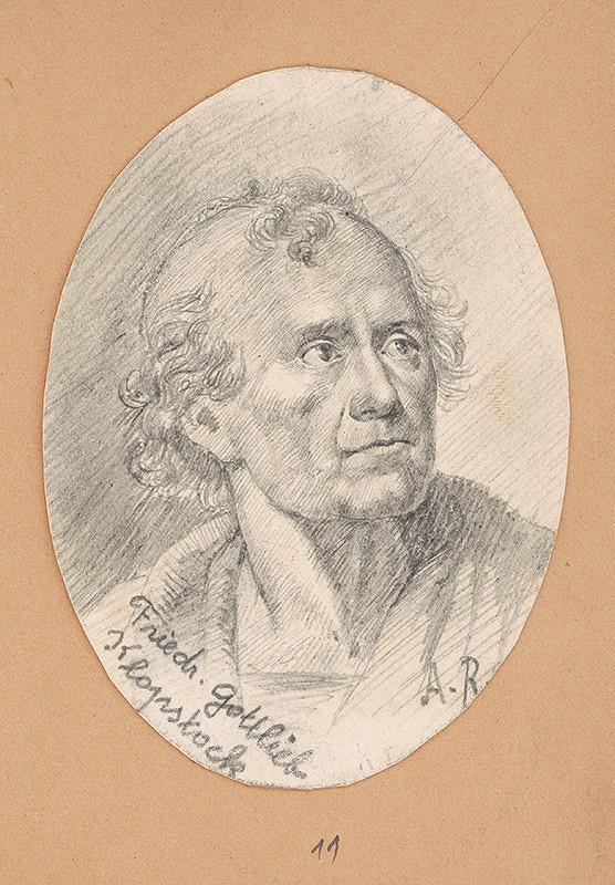 Alojz Rigele - Portrétna štúdia Friedr. Gottlieba Klopstocka