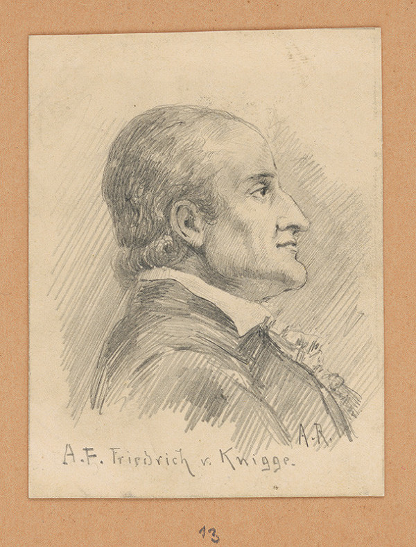 Alojz Rigele - Portrétna štúdia A. F. Friedricha v. Knigge