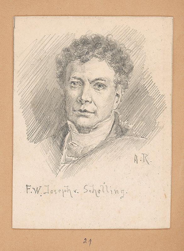 Alojz Rigele - Portrétna štúdia F. W. Josepha v. Schellinga