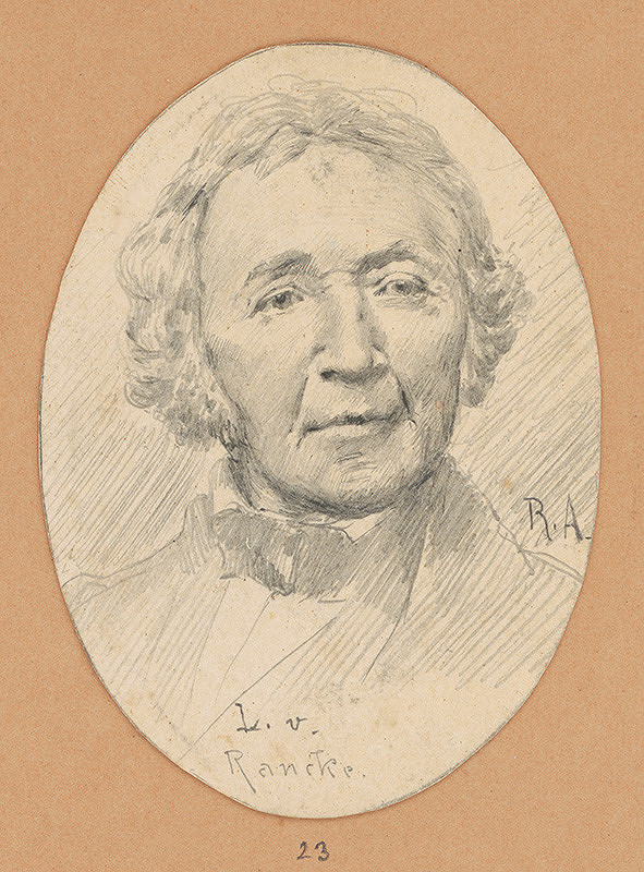 Alojz Rigele - Portrétna štúdia L. v. Rancke