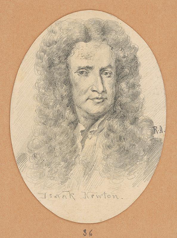 Alojz Rigele - Portrétna štúdia Isaaca Newtona