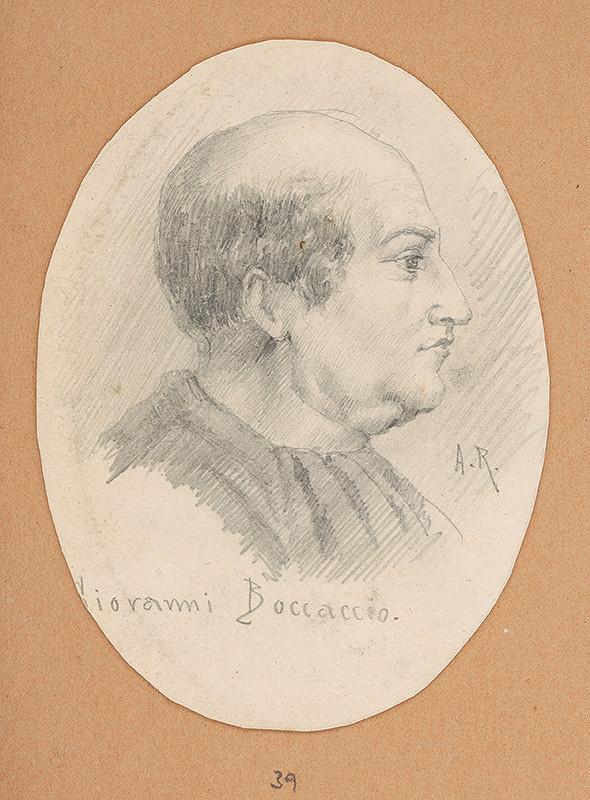 Alojz Rigele - Portrétna štúdia Giovanni Boccaccia