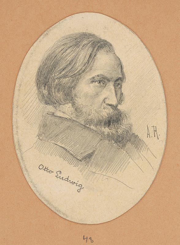 Alojz Rigele - Portrétna štúdia Ottu Ludwiga