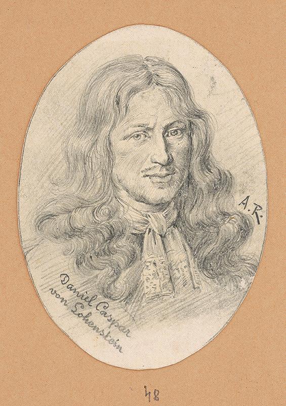 Alojz Rigele - Portrétna štúdia Daniela Caspara von Lohenstein