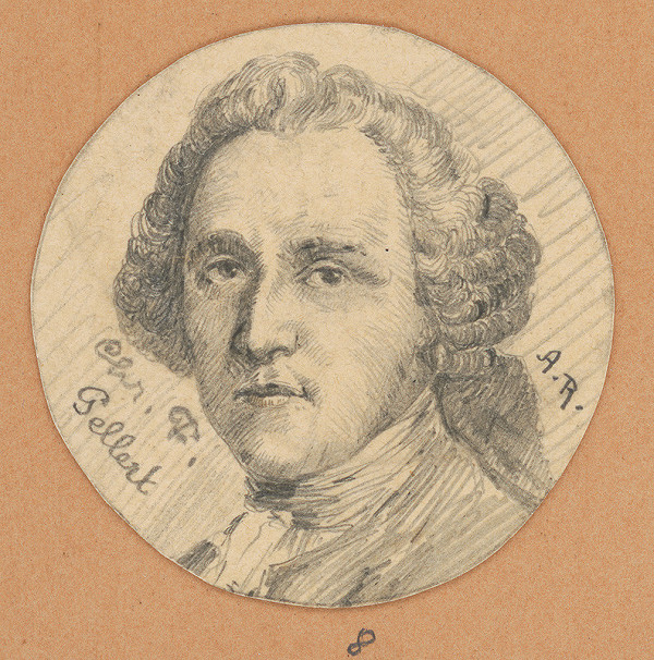 Alojz Rigele - Portrétna štúdia Chr. F. Gellerta