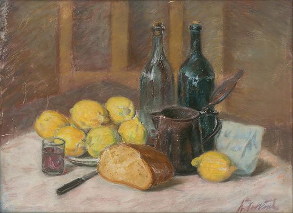 Štefan Polkoráb - Zátišie s citrónami