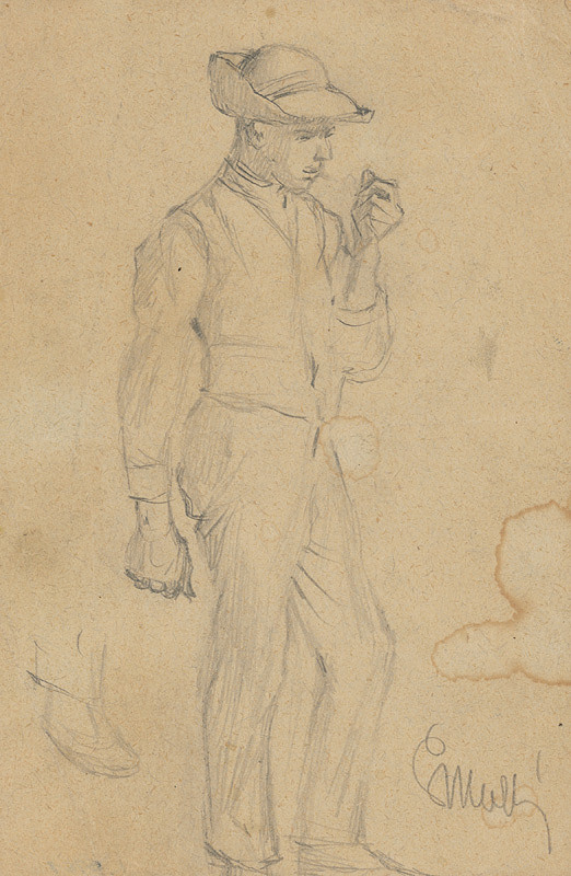 Gustáv Mallý - Muž v klobúku