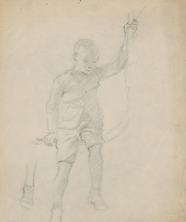 Gustáv Mallý – Sediaci chlapec