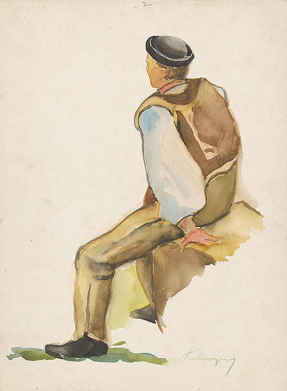 Zolo Palugyay - Sediaci muž v kroji