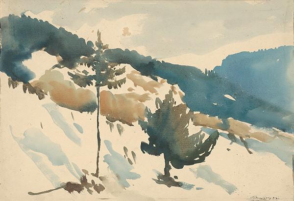 Zolo Palugyay - Zasnežená pláň v horách