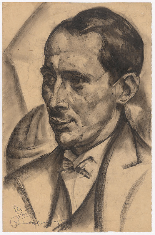 Vilmos Perlrott-Csaba – Portrét muža
