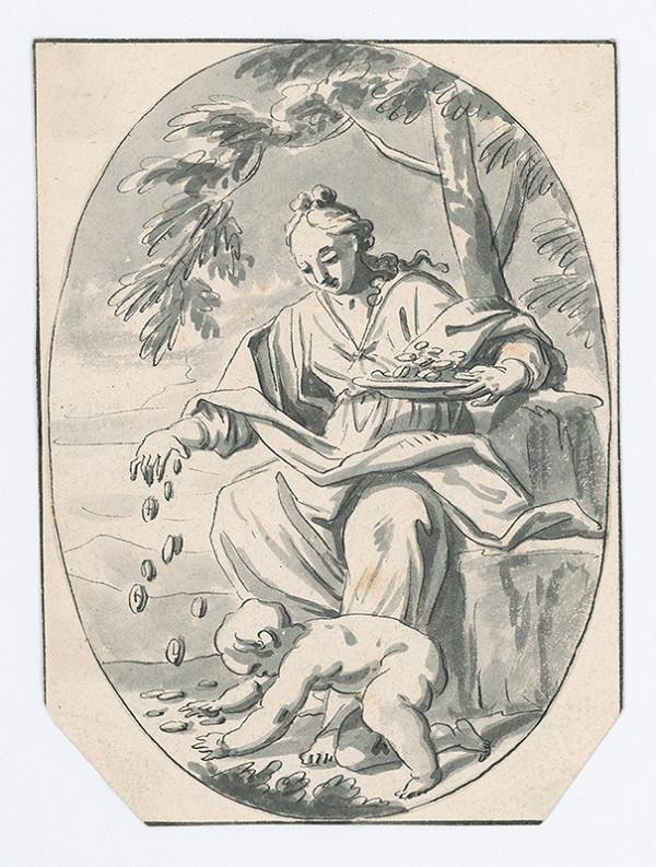 Stredoeurópsky majster z konca 18. storočia - Alegória bohatstva