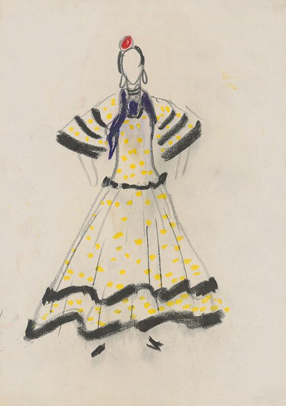 f4cb137d710a Eugen Nevan - Návrh na ženský kostým XX.