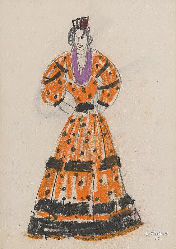 1ac61abc7b08 Eugen Nevan - Návrh na ženský kostým XXVII.