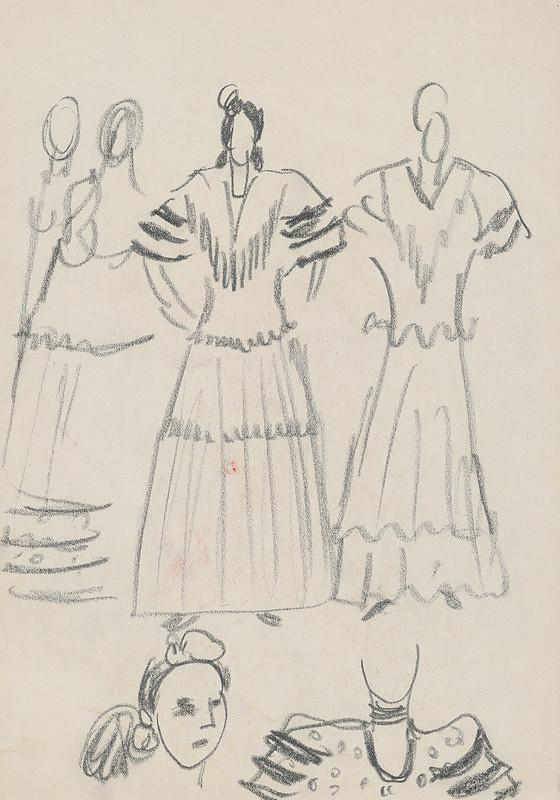 Eugen Nevan – Návrh na ženský kostým XIX.