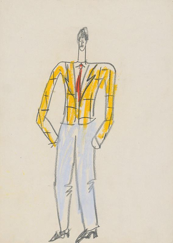 Eugen Nevan - Návrh na mužský kostým V.