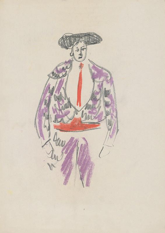 Eugen Nevan - Návrh na kostým toreádora V.