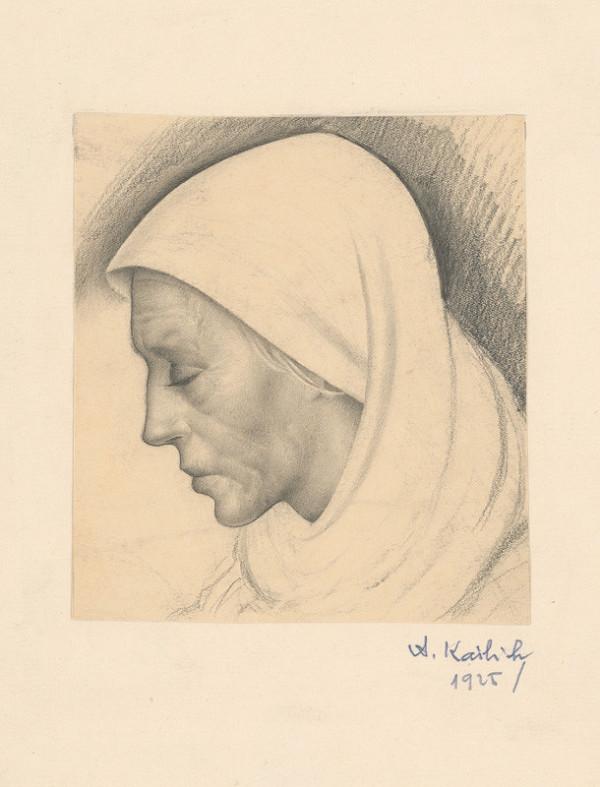 Aurel Kajlich - Žena v bielej šatke