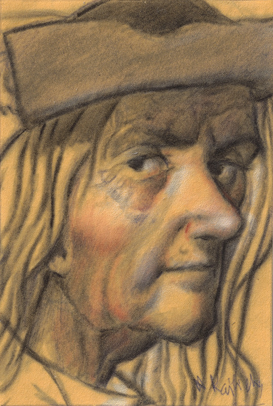 Aurel Kajlich - Štúdia hlavy starca