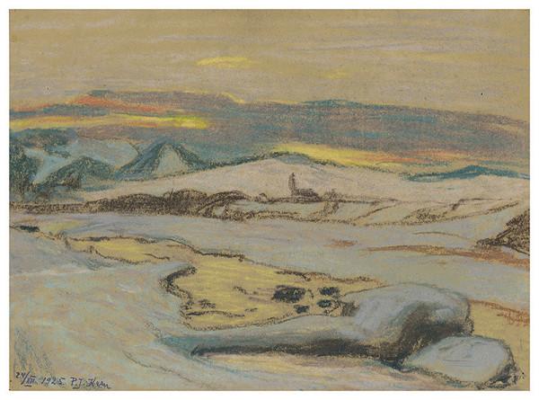 Peter Július Kern - Zimná krajina