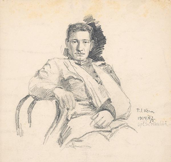 Peter Július Kern – Ranený vojak