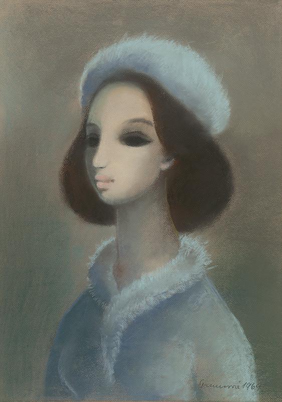 Edita Spannerová - Dievča v modrej čiapke