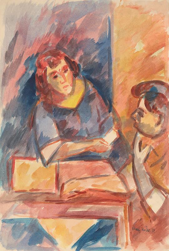 Endre Nemes - Žena pri stole