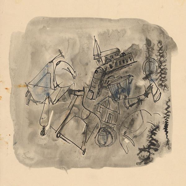 Eugen Nevan - Zátišie s koníkom