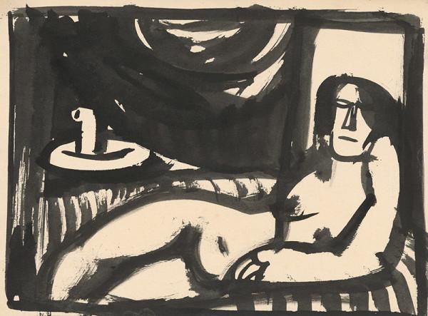 Vincent Hložník – Ležiaci ženský akt