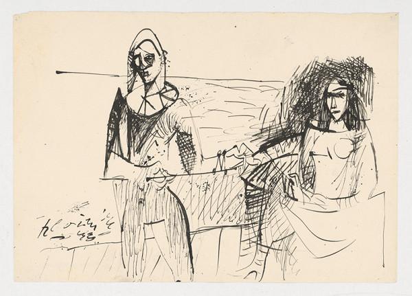 Vincent Hložník – Žena a harlekýn