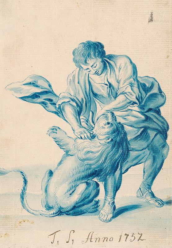 Juda Tadeáš Josef Supper - Muž zápasiaci s levom