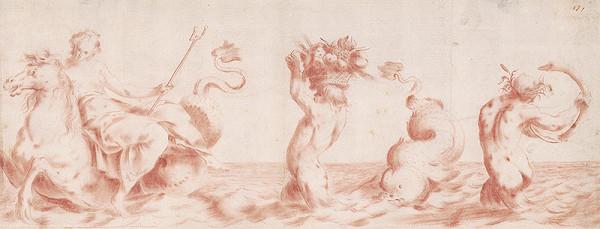 Charles Joseph Natoire - Štúdia k obrazu v Múzeu Narodowom vo Waršave