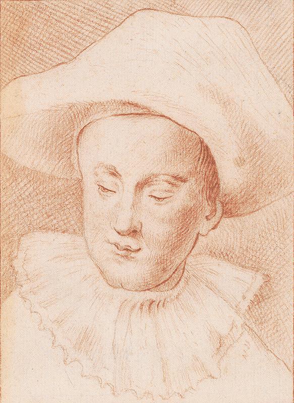 Antoine de Favray - Hlava chlapca v klobúku