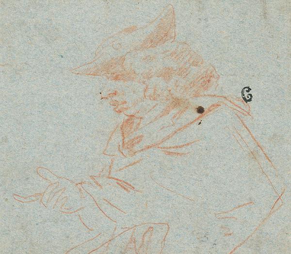 Nizozemský maliar zo 17. storočia - Štúdia muža v klobúku