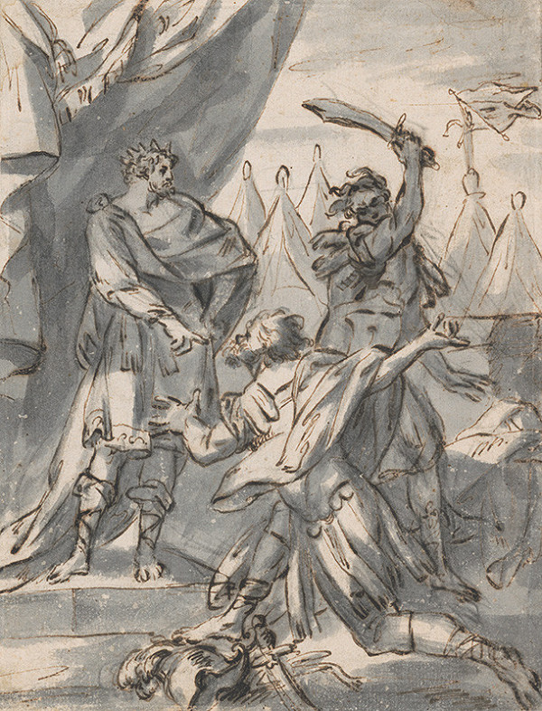 Severotaliansky maliar zo 17. storočia - Poprava vo vojenskom tábore