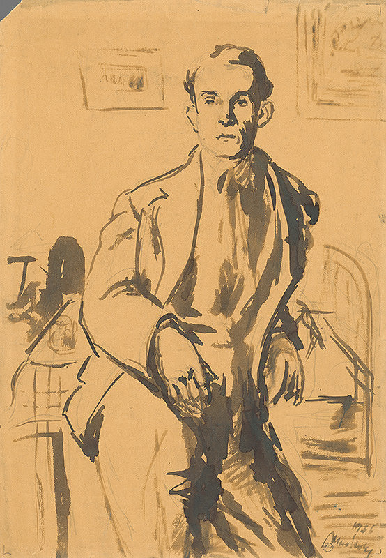 Ján Mudroch - Portrét maliara Petra Matejku