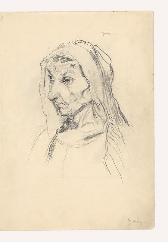 Dezider Milly - Kresba podľa A. Dürera (Matka)