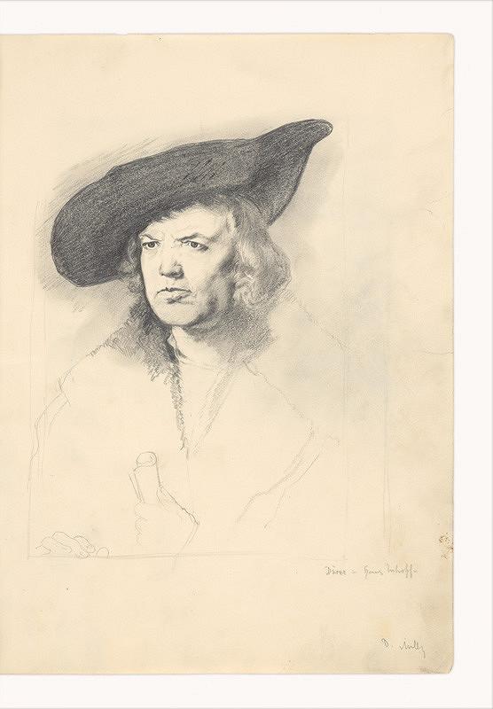 Dezider Milly - Kresba podľa A. Dürera (Hans Imhoff)