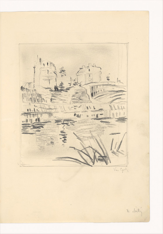 Dezider Milly – Kresba podľa Van Gogha (Krajina)
