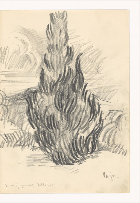 Dezider Milly – Kresba podľa Van Gogha (Cyprus)